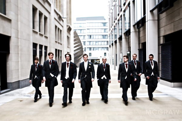 Groom, Best Man & Ushers - St Paul's - London - Ian McGraw LBIPP