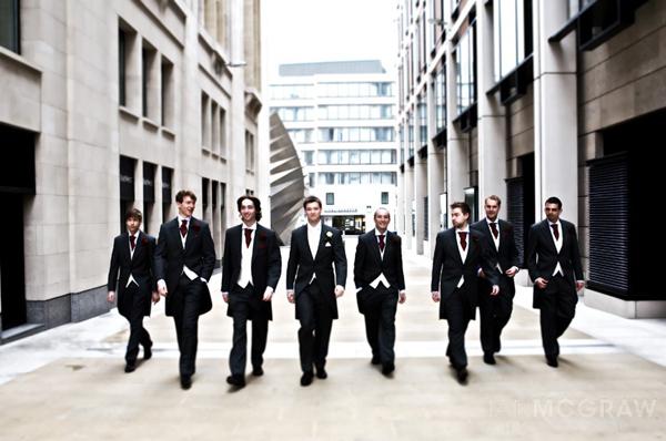Groom, Best Man & Ushers - St Paul's - London - Ian McGraw LBIPP