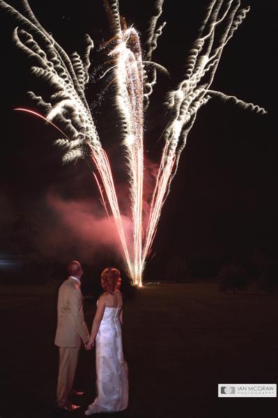 Wedding Fireworks - Sussex - Ian McGraw LBIPP