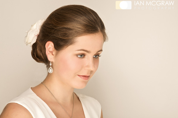 Bride with Hair & Makeup by Sally Brown